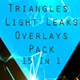 Triangles Light Leaks Overlays Pack 15 In 1