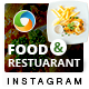 Food and Restaurant Instagram Templates