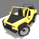 Jeep low poly, toy Uncapped
