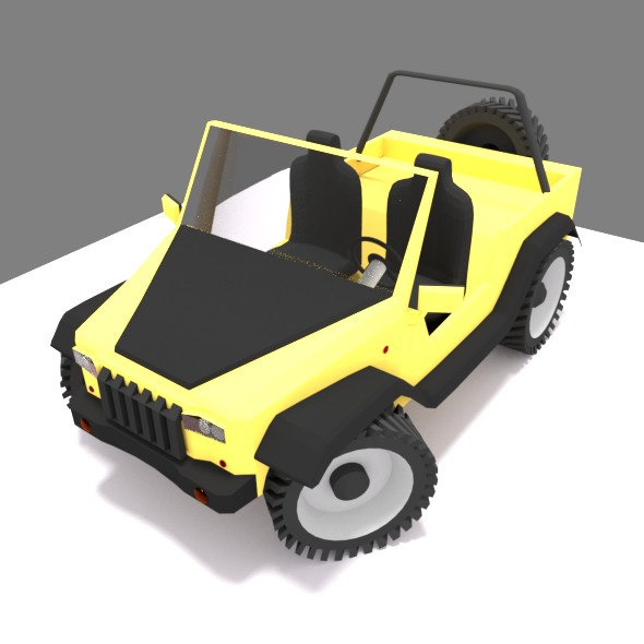 Jeep low poly, toy Uncapped - 3DOcean Item for Sale