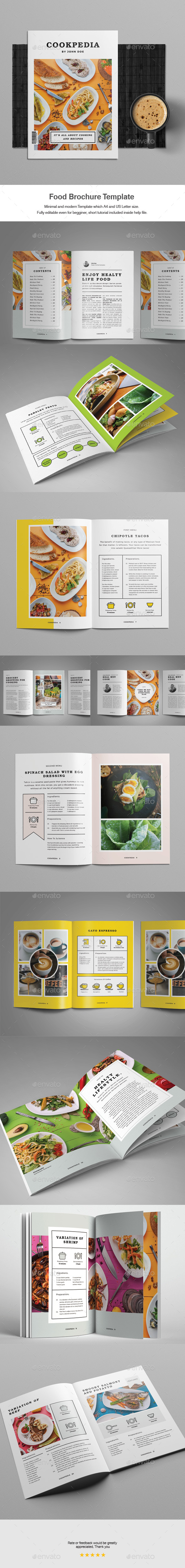GraphicRiver Food Brochure Template 20388647