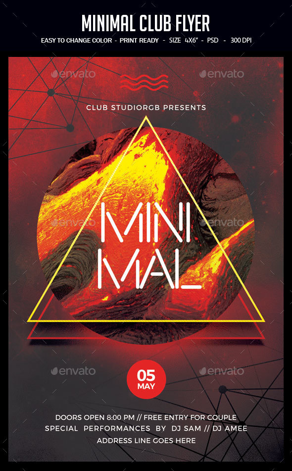 GraphicRiver Minimal Club Flyer 20388686