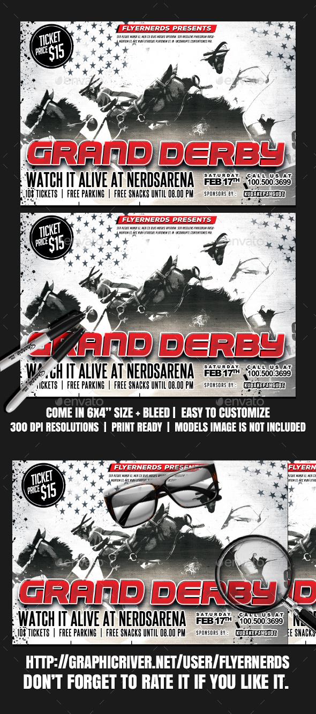 GraphicRiver Grand Derby 2K17 Sports Flyer 20388711