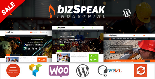 BizSpeak - Responsive Industrial WP Theme - Business Corporate