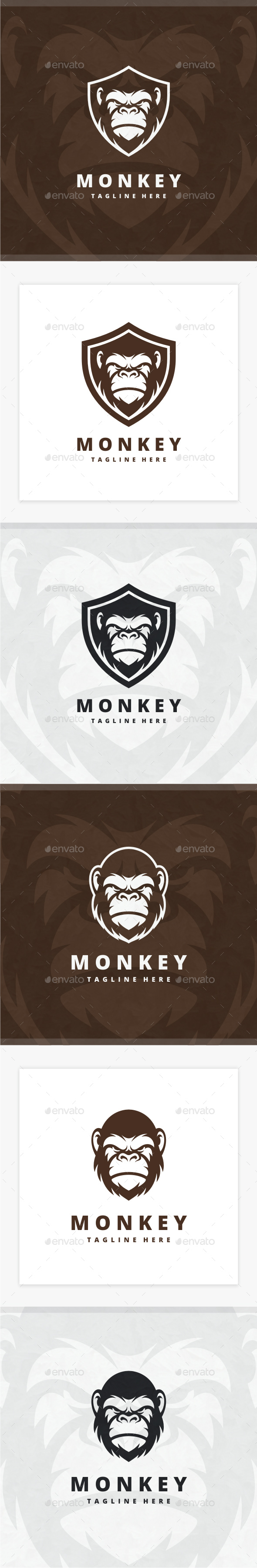Monkey Logo - Animals Logo Templates