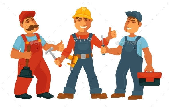 People Professions Builder Constructor - People Characters