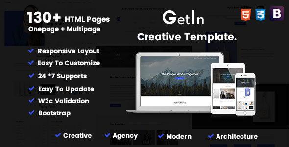 GetIn | The MultiPurpose HTML5 Template