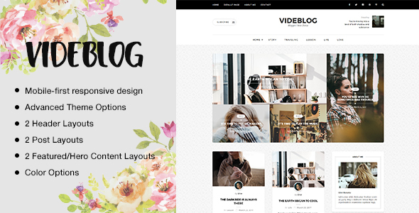 Videblog: A Responsive WordPress Blog Theme
