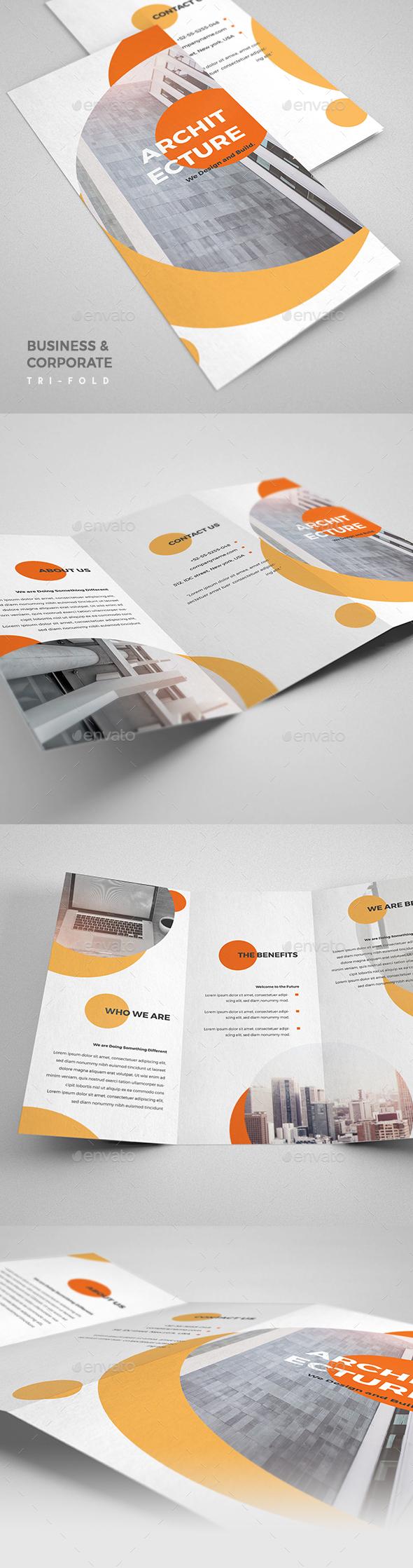 Architecture Design Tri-Fold Brochure - Brochures Print Templates