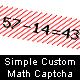 Simple Custom Math Captcha