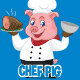 Chef Pig Vector Set - GraphicRiver Item for Sale