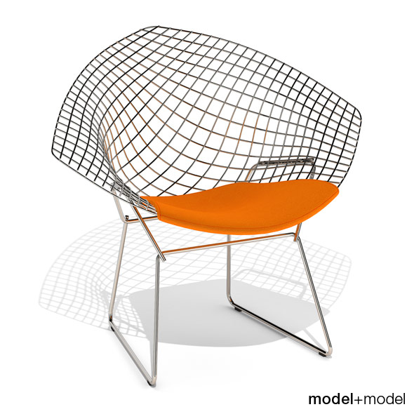Knoll Bertoia Diamond chair - 3DOcean Item for Sale