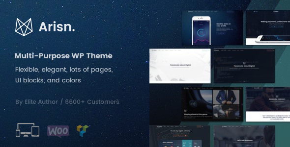 Arisn - Creative Multi-Purpose / App WordPress Theme