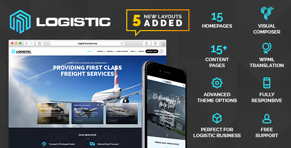 Logistic - WP Theme For Transportation Business - Business Corporate