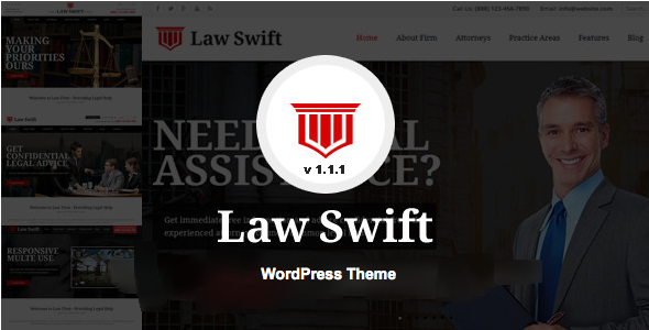LawSwift - Lawyer and Attorney Business WP Theme - Business Corporate