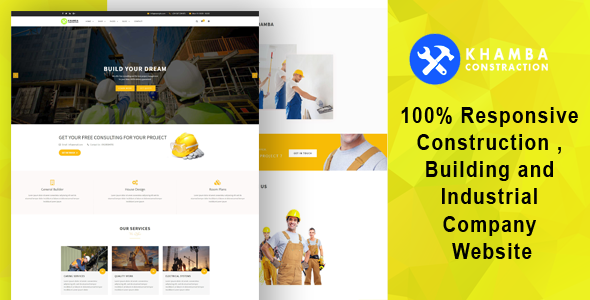 Khamba  - Construction , Building and Industrial Company HTML5 Template - Business Corporate