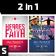 Heroes of the Faith & Biblical Manhood Church Flyers - GraphicRiver Item for Sale