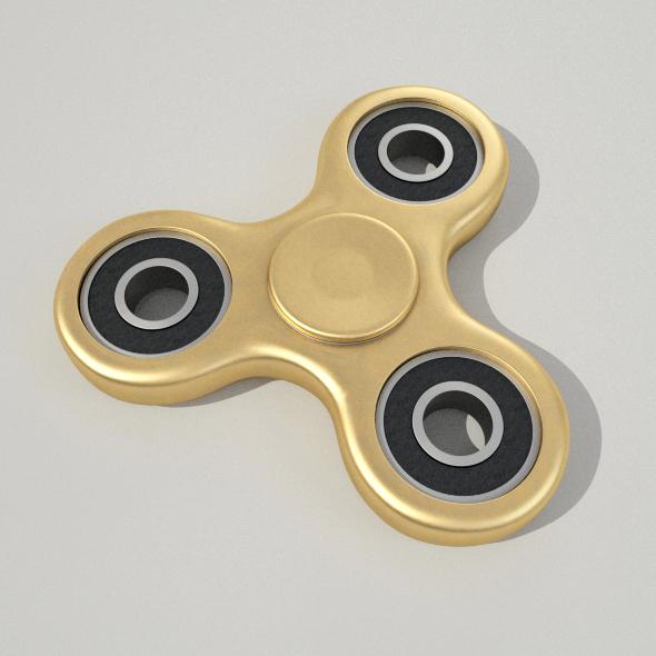 3DOcean Fidget Spinner Gold 20389879