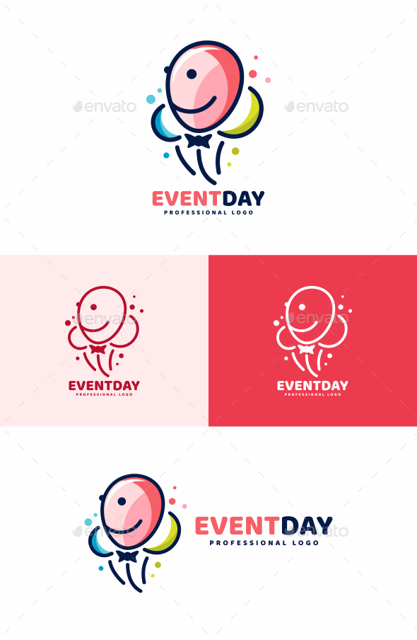 GraphicRiver Balloon Party Logo 20390092