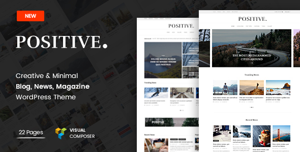 ThemeForest Positive Blog News Magazine WordPress Theme 19698035