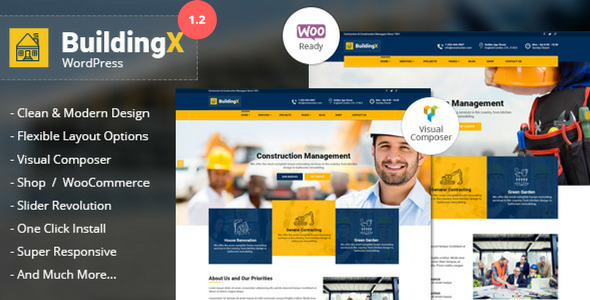 BuildingX - Builder, Contractor, Contruction WordPress Theme - Business Corporate