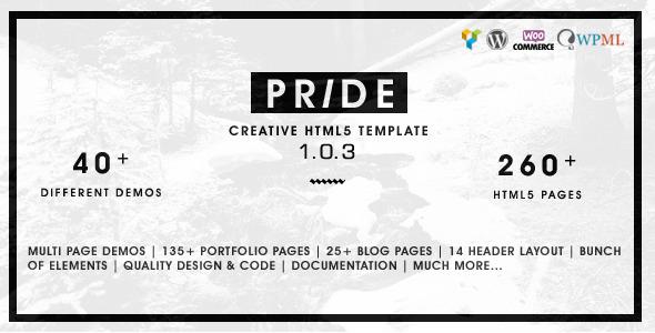 Pride - Creative Multipurpose WordPress Theme - Creative WordPress