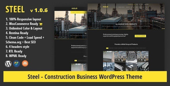 STEEL - Construction Business WordPress Theme - Business Corporate