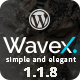 WaveX - One Page Parallax WordPress Theme Nulled