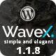 WaveX - One Page Parallax WordPress Theme