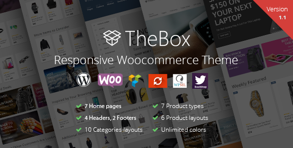 TheBox - Responsive WooCommerce Theme