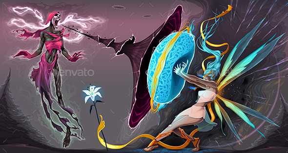 Fear and Courage, Battle in the Astral Realms - Characters Vectors