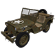3D Military Jeep - 5 Renders