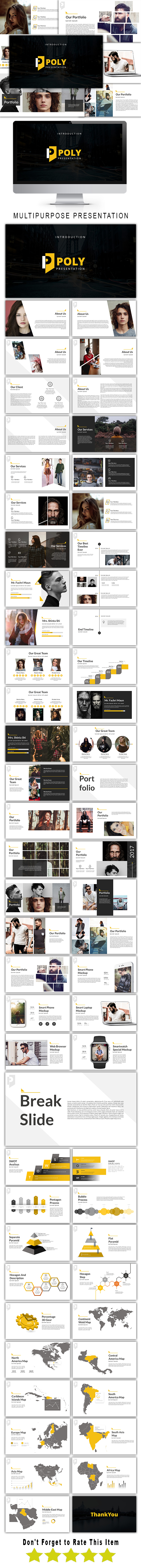 Poly Multipurpose Google Slide Template - Google Slides Presentation Templates