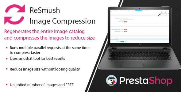 Prestashop ReSmush Image Compression for large catalogs Module - CodeCanyon Item for Sale