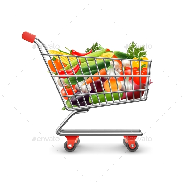 GraphicRiver Vegetables Shopping Concept 20390497