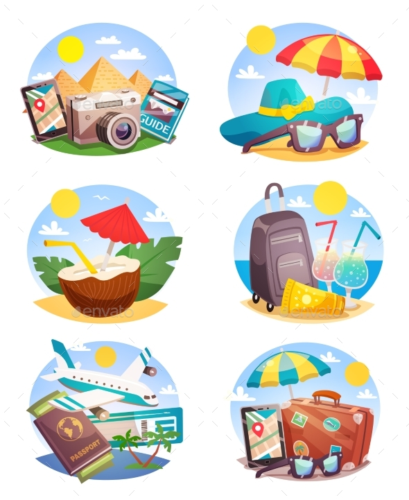 GraphicRiver Summer Holiday Compositions Set 20390503