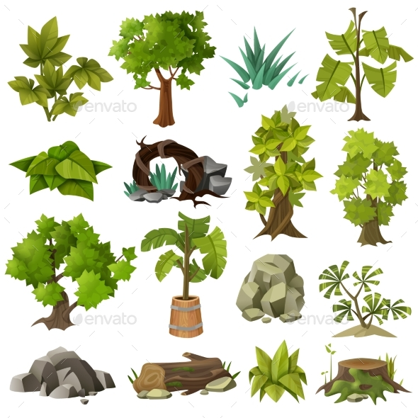 Trees Plants Landscape Gardening Elements - Flowers & Plants Nature