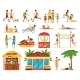 Beach Activities Decorative Icons Set - GraphicRiver Item for Sale