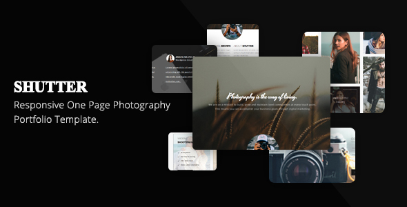 Image of Shutter One Page Photography Portfolio Template