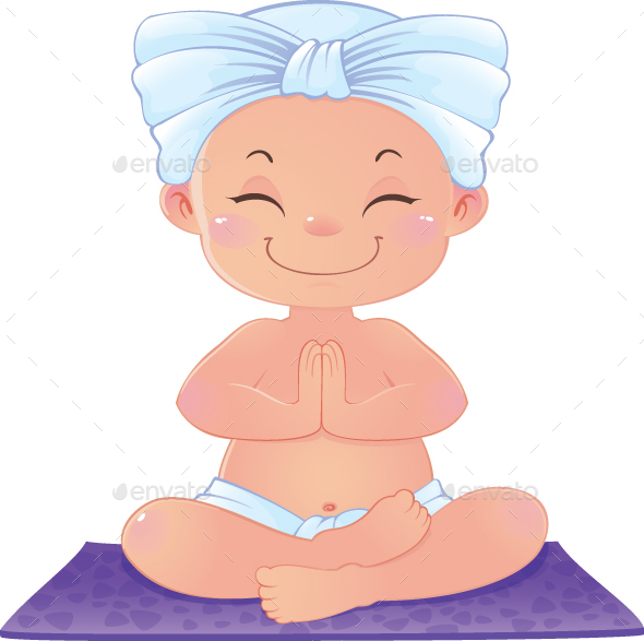 GraphicRiver Yogi in Meditation Sitting in Lotus Asana 20390786