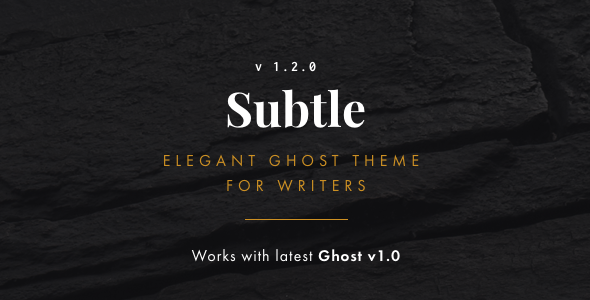 Subtle - Clean and Elegant Ghost Theme