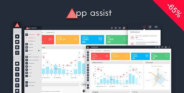 App assist - Angular 4 Bootstrap 4 LTR/RTL Admin Template