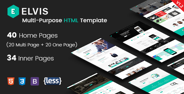 Elvis - Responsive Multi-Purpose HTML Template - Creative Site Templates