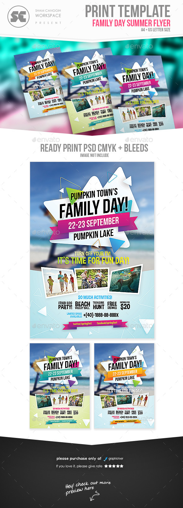 Family Day Flyers - Holidays Events