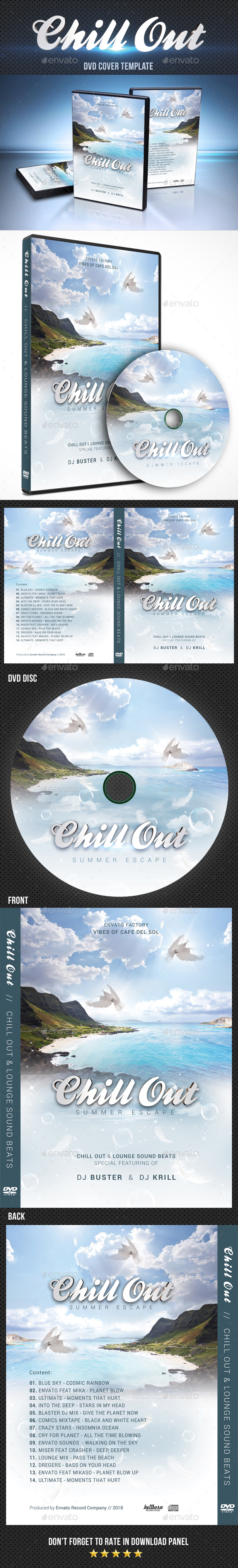 Chill Out DVD Cover Template - CD & DVD Artwork Print Templates