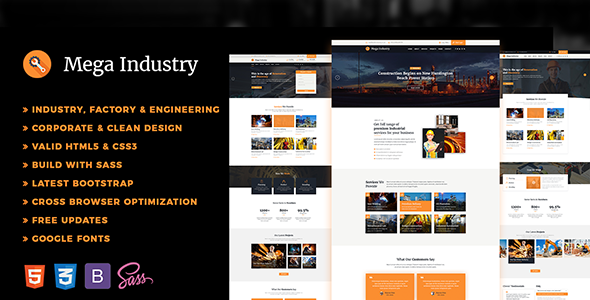 Industry - Factory, Engineering HTML5 Template - Business Corporate