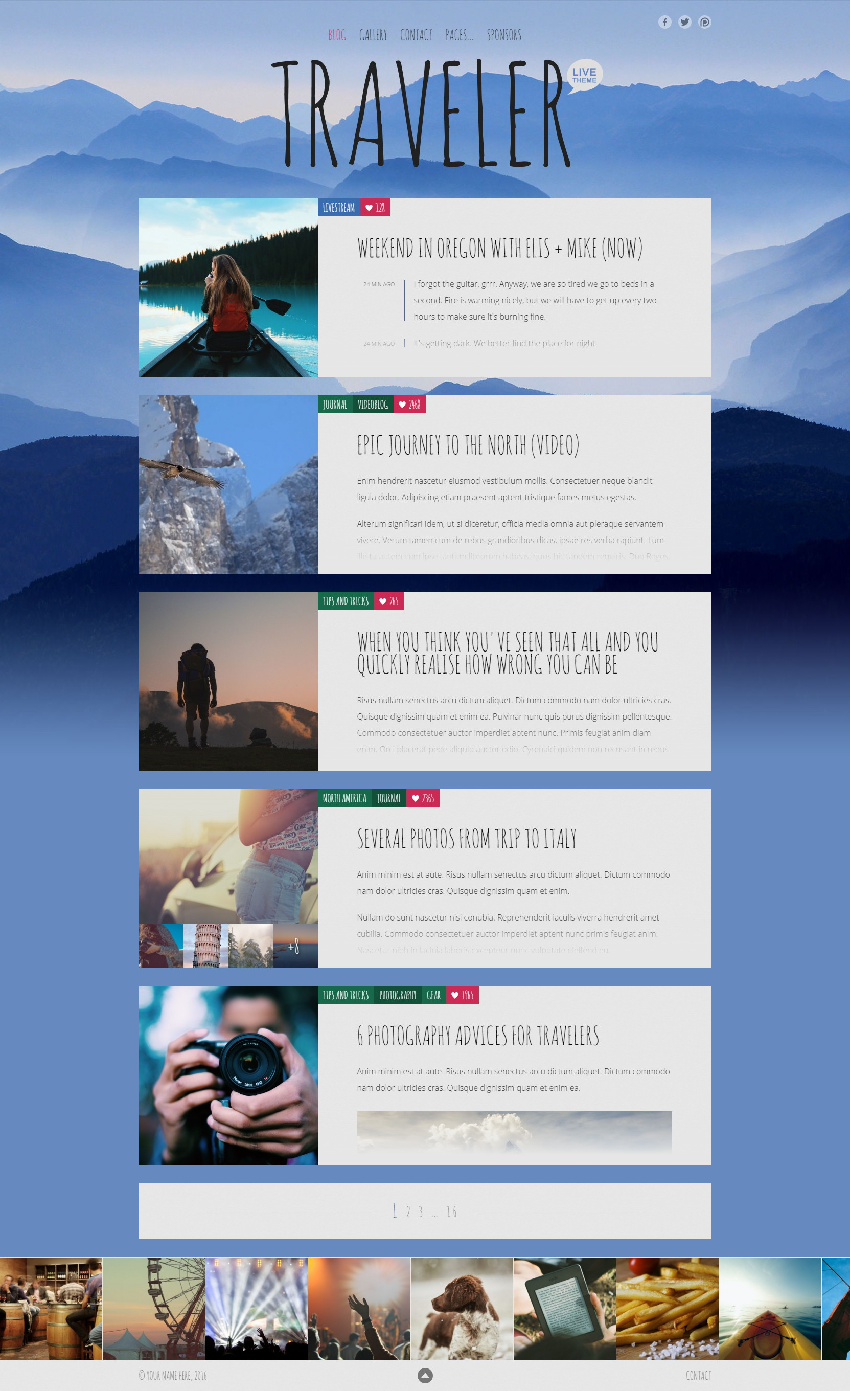 Live — Blog Template by WebberWebber | ThemeForest