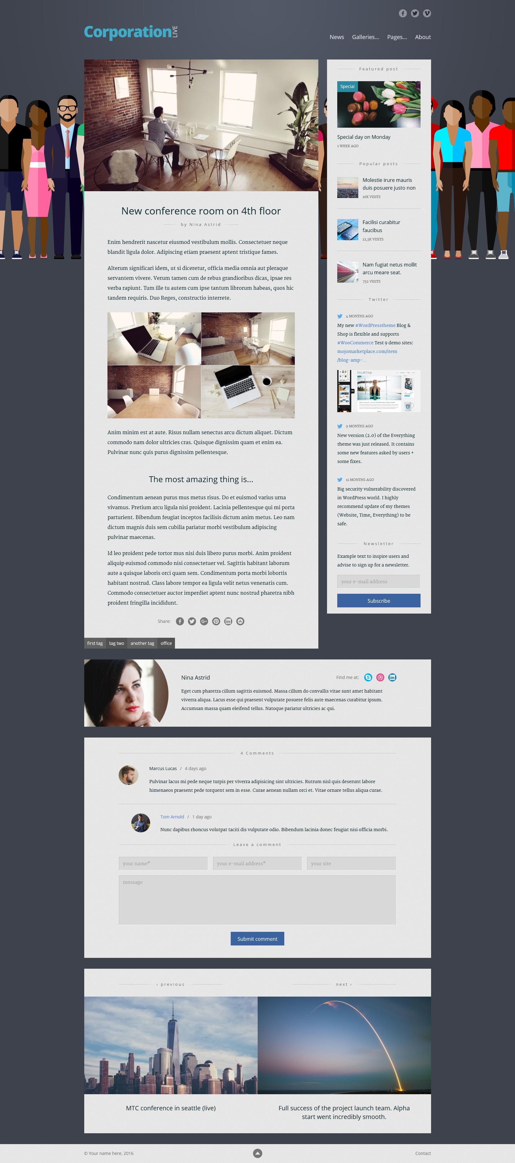 Live — Blog Template by WebberWebber | ThemeForest