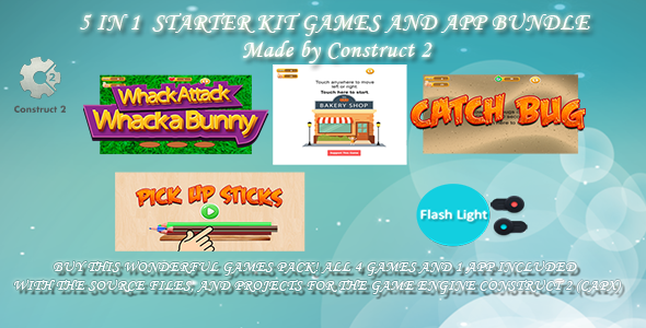 5 IN 1  STARTER KIT GAMES AND APP BUNDLE (CONSTRUCT 2 -CAPX) - CodeCanyon Item for Sale