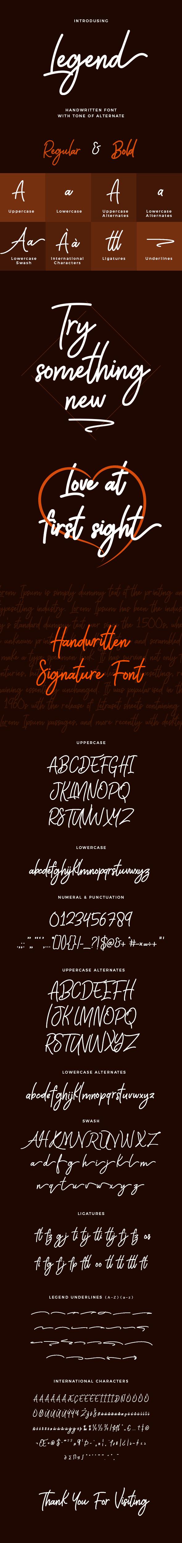 GraphicRiver Legend Handwritten Font 20391313